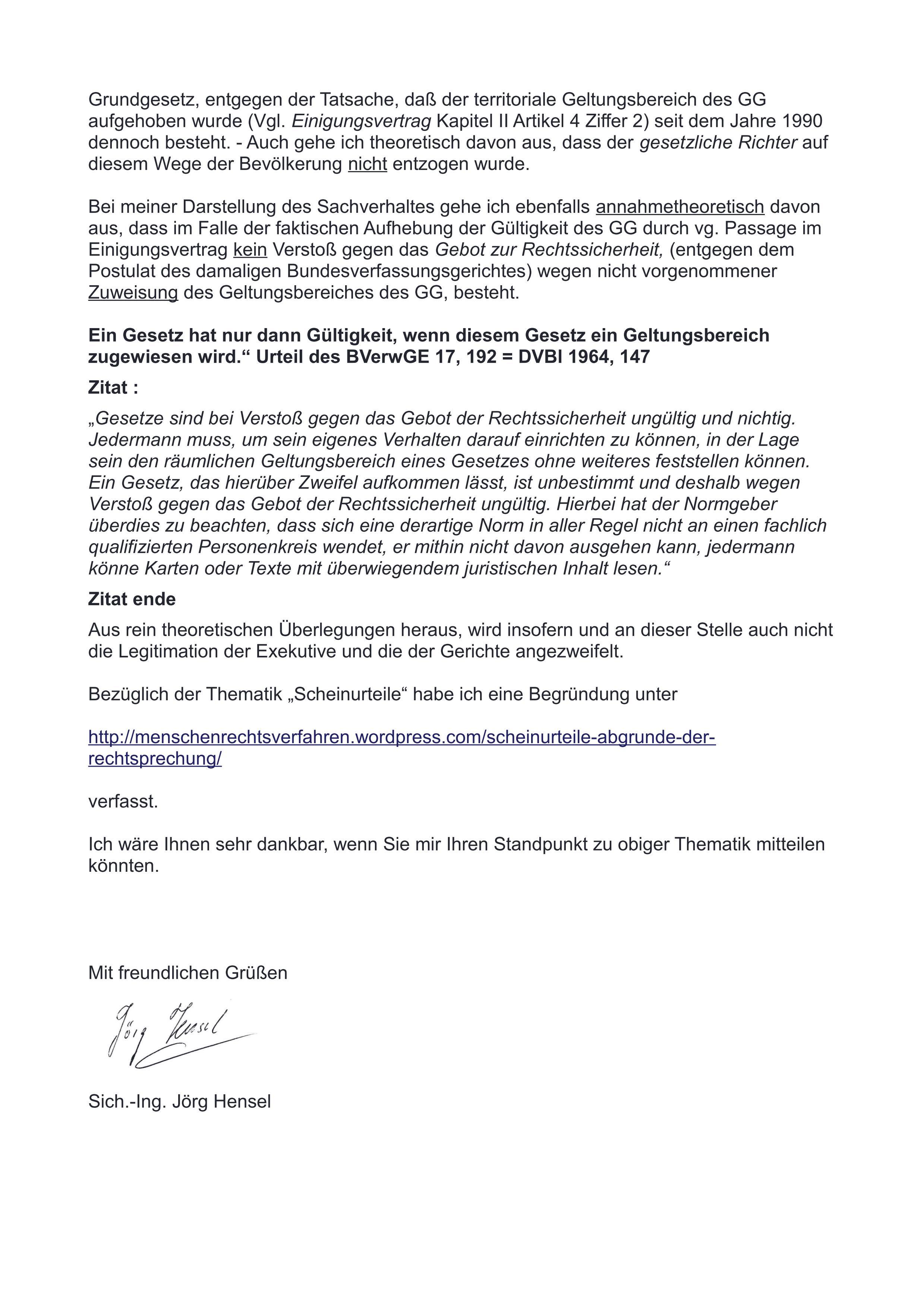 Zwangsvollstreckung Aufgrund Von Scheinurteilen Offener Brief An