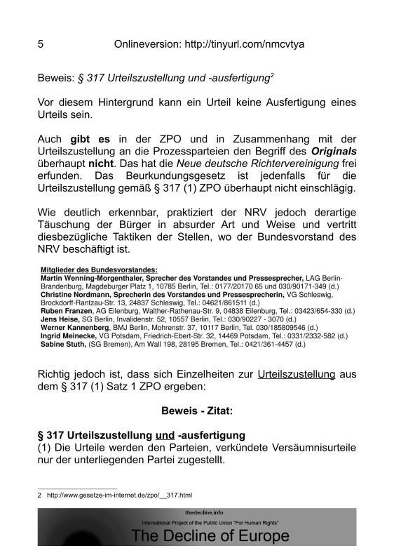 Scheinurteile und Scheinbeschlüsse - Neue Richtervereinigung _04