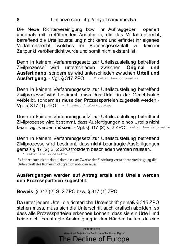 Scheinurteile und Scheinbeschlüsse - Neue Richtervereinigung _07