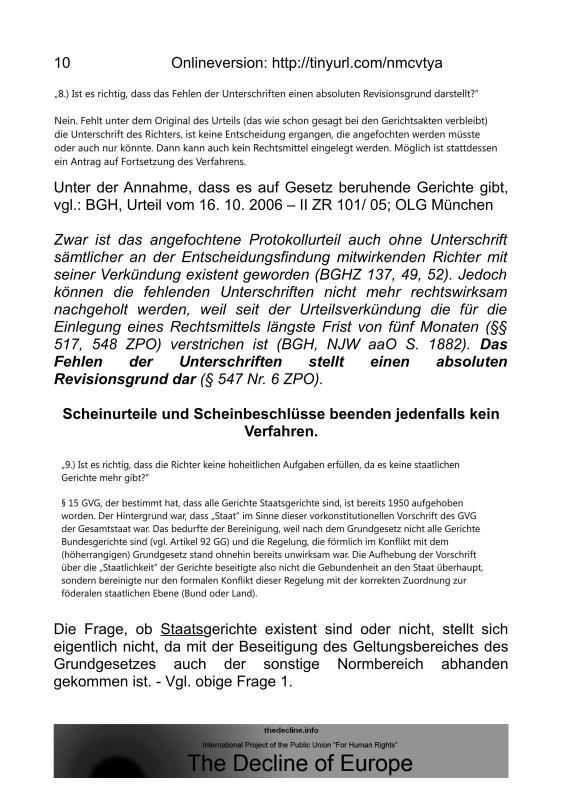 Scheinurteile und Scheinbeschlüsse - Neue Richtervereinigung _09