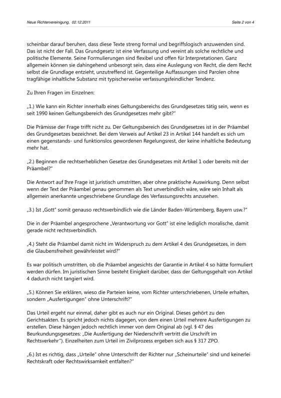 Scheinurteile und Scheinbeschlüsse - Neue Richtervereinigung _12
