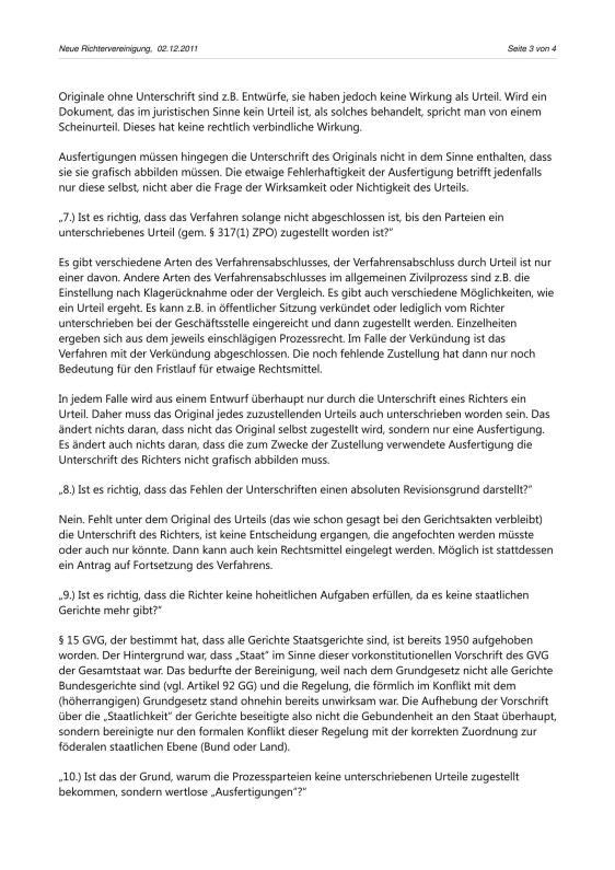 Scheinurteile und Scheinbeschlüsse - Neue Richtervereinigung _13
