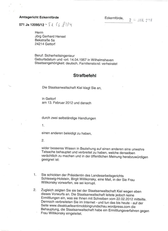 Strafbefehl AG Eckernförde01