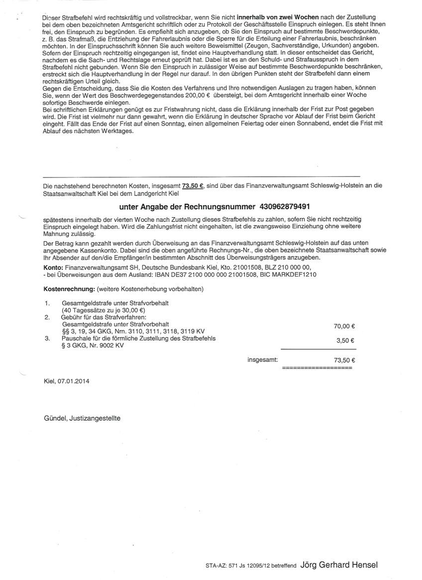 Strafbefehl AG Eckernförde03